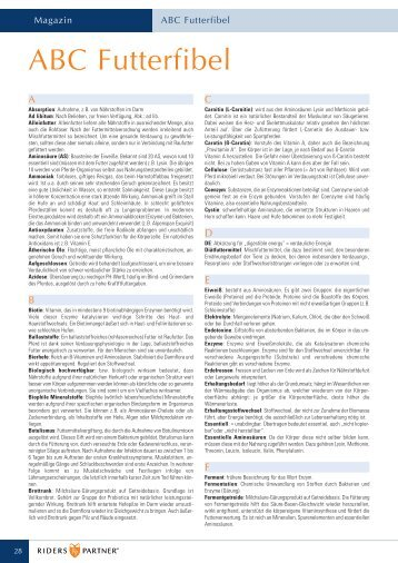 ABC Futterfibel - Futtermittel Louven