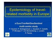 Epidemiology of travel- related morbidity in Europe