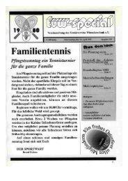 Vereinszeitung 1993 - Tennisverein Winnekendonk