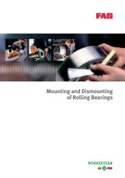 Mounting and Dismounting of Rolling Bearings - Schaeffler Group