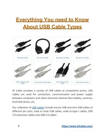 Everything You Need to Know About USB Cable Types