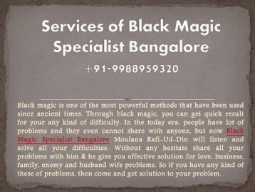 Services of Black Magic Specialist Bangalore