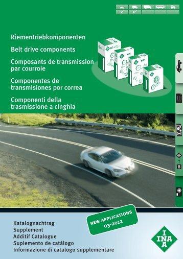 Riementriebkomponenten, Belt drive components, Composants de ...