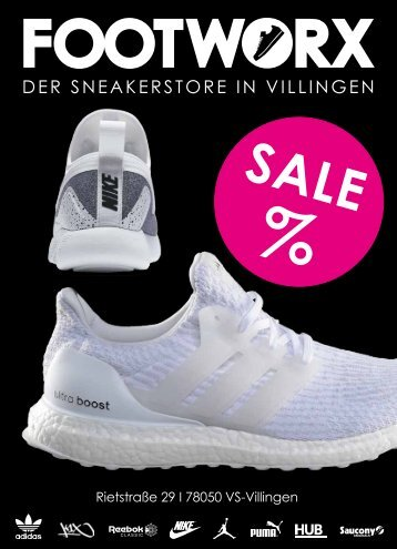 Footworx Angebote August 2017 - Der Sneakerstore in Villingen-Schwennigen
