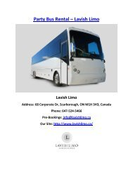 Party Bus Rental - Lavish Limo - Toronto