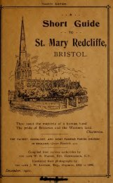 A Short Guide to St Mary Redcliffe Bristol Fourth Edition 1921