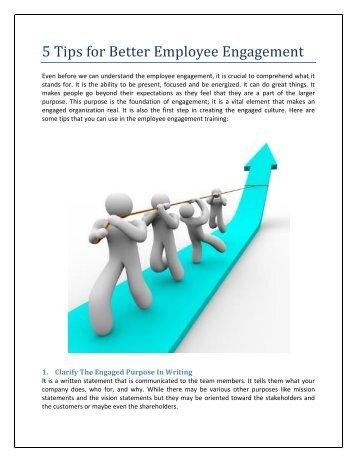 5 Tips for Better Employee Engagement