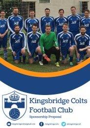 Kingsbridge Colts Sponsorship Proposal 2017-18