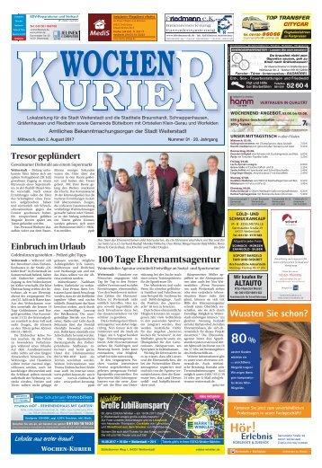 Wochen-Kurier 31/2017 - Lokalzeitung für Weiterstadt und Büttelborn