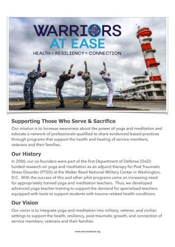 NEUWarriors At Ease-Supporting Those Who Serve & SacrifceORIGINIAL