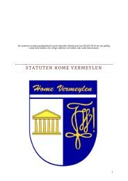 Statuten Home Vermeylen 2017-2018