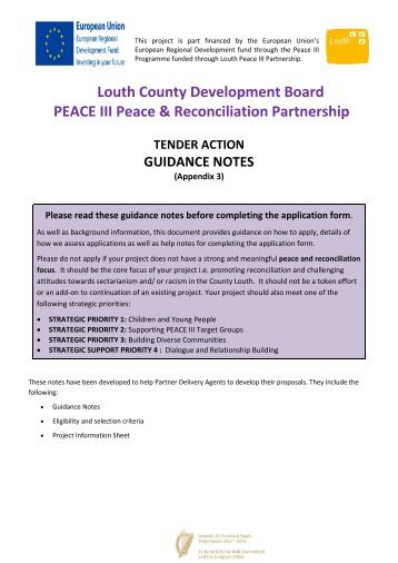 Annex B Louth Phase II Peace III - Louth County Council