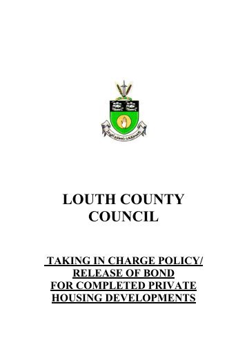 Taking in Charge Policy Guidance - Louth County Council