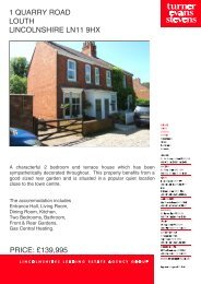 1 quarry road louth lincolnshire ln11 9hx price - Expert Agent