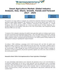 Smart Agriculture Market- Global Industry Analysis, Size, Share, Growth, Trends and Forecast 2017 - 2025