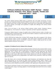 Software Defined Perimeter (SDP) Market  - Global Industry Analysis, Size, Share, Growth, Trends and Forecast 2017 - 2025