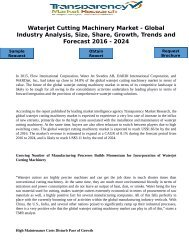 Waterjet Cutting Machinery Market - Global Industry Analysis, Size, Share, Growth, Trends and Forecast 2016 - 2024