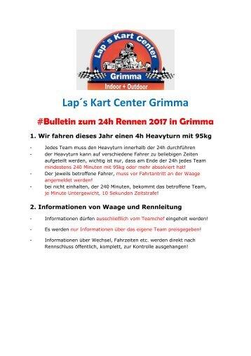 Bulletin zum 24h Rennen 2017 in Grimma
