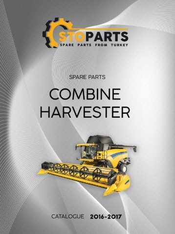 Parts for combine harvester - catalogue manufactured in Turkey