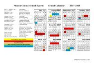 Macon County School System School Calendar 2017-2018 (Approved)