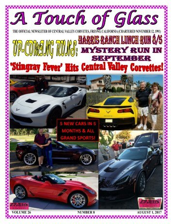 Central Valley Corvettes Newsletter - August 2017