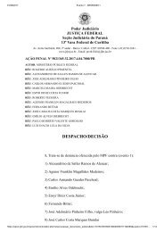 AÇÃO PENAL Nº 5021365-32.2017.4.04.7000PR Inácio Lula da Silva consubstanciada em reformas no Sítio de Atibaia