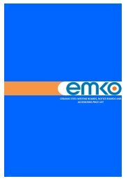 VISUAL COMMUNICATION - EMKO PRODUCTS