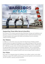 SeiteNeuWarriors At Ease-Supporting Those Who Serve & Sacrifce