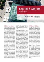 Kapital & Märkte: Ausgabe August 2017