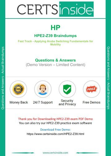 HPE2-Z39 Exam Questions