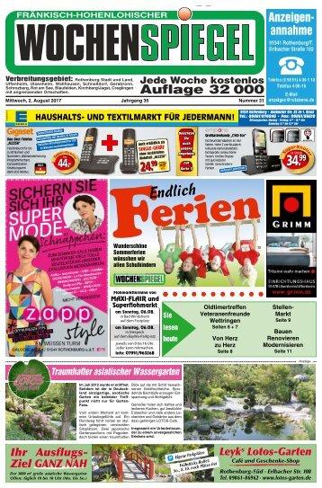 Fraenkisch-Hohenlohischer Wochenspiegel