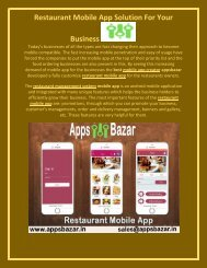 Restaurant Mobile App Solution For Your Business