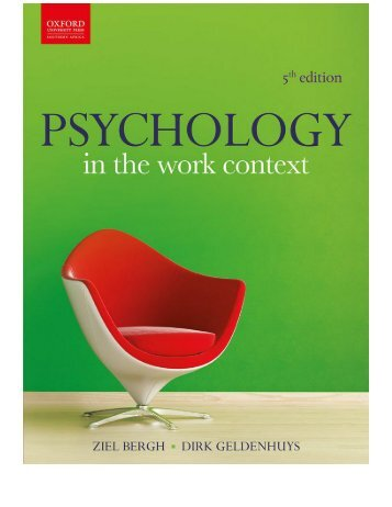 Psychology in the Work Context, 5th Edition