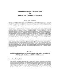 Annotated reference bibliography for biblical and theological