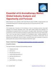 Essential oil & Aromatherapy Market