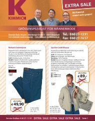 Extra Sale | Sommer Schluss Verkauf bei Kimmich