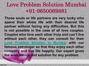 Love Problem Solution In Mumbai  9650069881