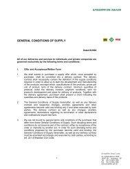General Conditions of Supply - Schaeffler Group _!_