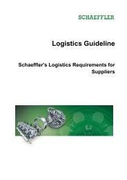 Logistics Guideline: Schaeffler's Logistics ... - Schaeffler Group