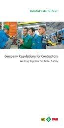 Company Regulations for Contractors Working ... - Schaeffler Group