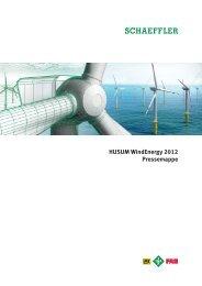 Schaeffler Pressemappe: HUSUM WindEnergy 2012