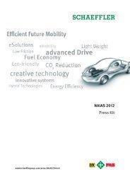 Schaeffler Press Kit NAIAS 2012 - Schaeffler Group