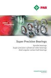 Super Precision Bearings Spindle bearings  ... - Schaeffler Group