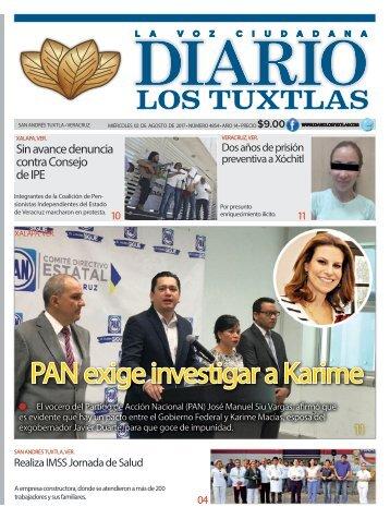 edición de diario los tuxtlas del día 02 de agosto de 2017