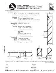 model xaj-4-gl extruded stationary louver - Metal Industries, Inc.