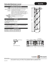 Parallel Blade Rectangular Zone Dampers DAOP Series
