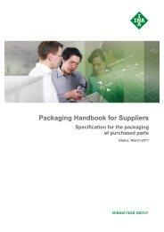 Packaging Handbook for  Suppliers Specification ... - Schaeffler Group
