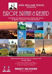 KING WILLIAM TRAVEL – , Britain & IrEland
