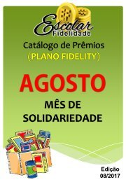 Catálogo Escolar Fidelidade - Agosto 2017