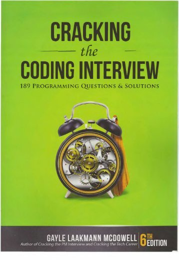 Gayle Laakmann McDowell Cracking the Coding Interview 189 Programming Questions and Solutions